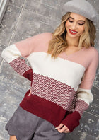 Unique Colorblock Sweater