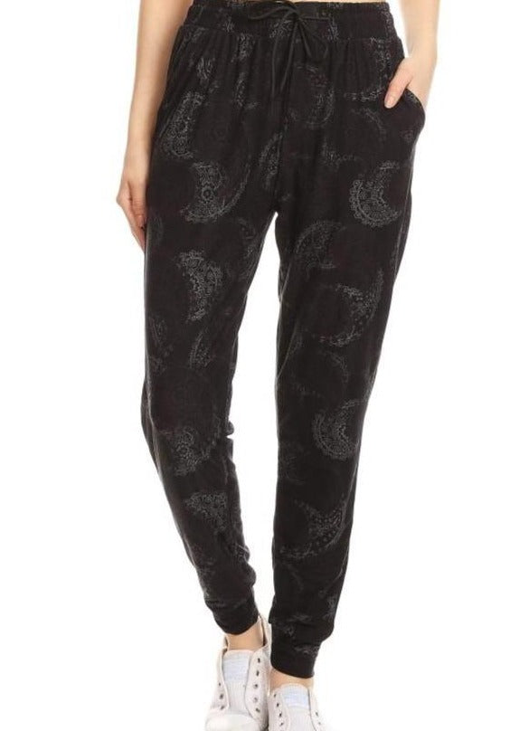 Butter Soft Joggers - Paisley Print