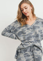Brushed Camo Top Grey