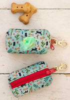Dog bag pouch-doggy print
