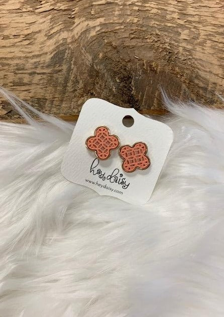 Filigree Post Earring - Peach