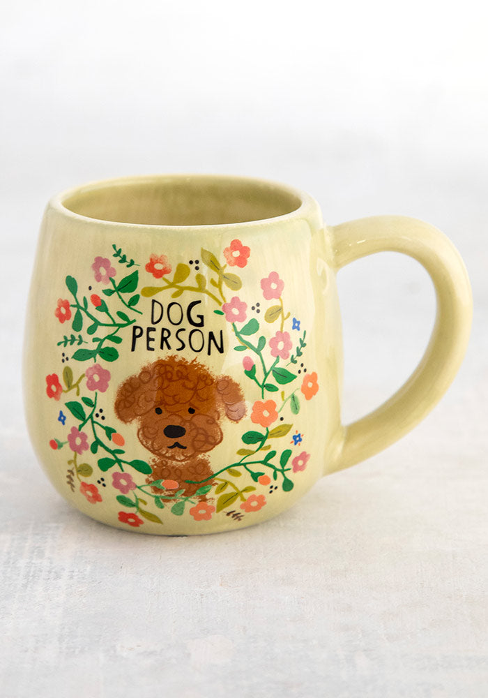 Dog person ceramic mug