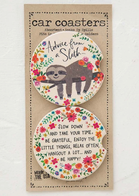 Car Coaster Set - Advice From A Sloth
