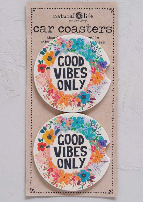 Car Coaster Set - Good Vibes