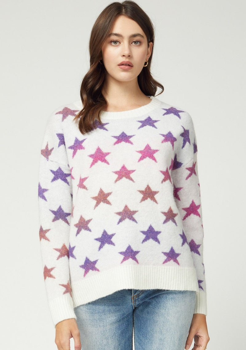 Ombre Star Sweater