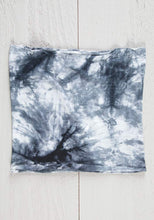 Load image into Gallery viewer, Half Boho Bandeau - Black & White Tie Dye