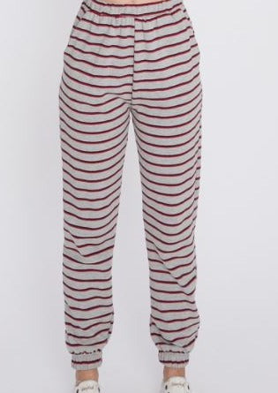 Stripe Terry Joggers