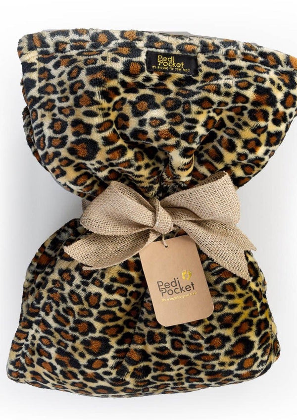 PediPocket Blanket - Luscious Leopard
