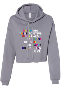 Do What You Love - Crop Hoodie
