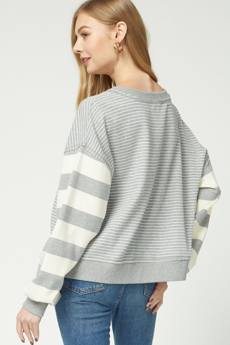 Striped Puff Sleeves