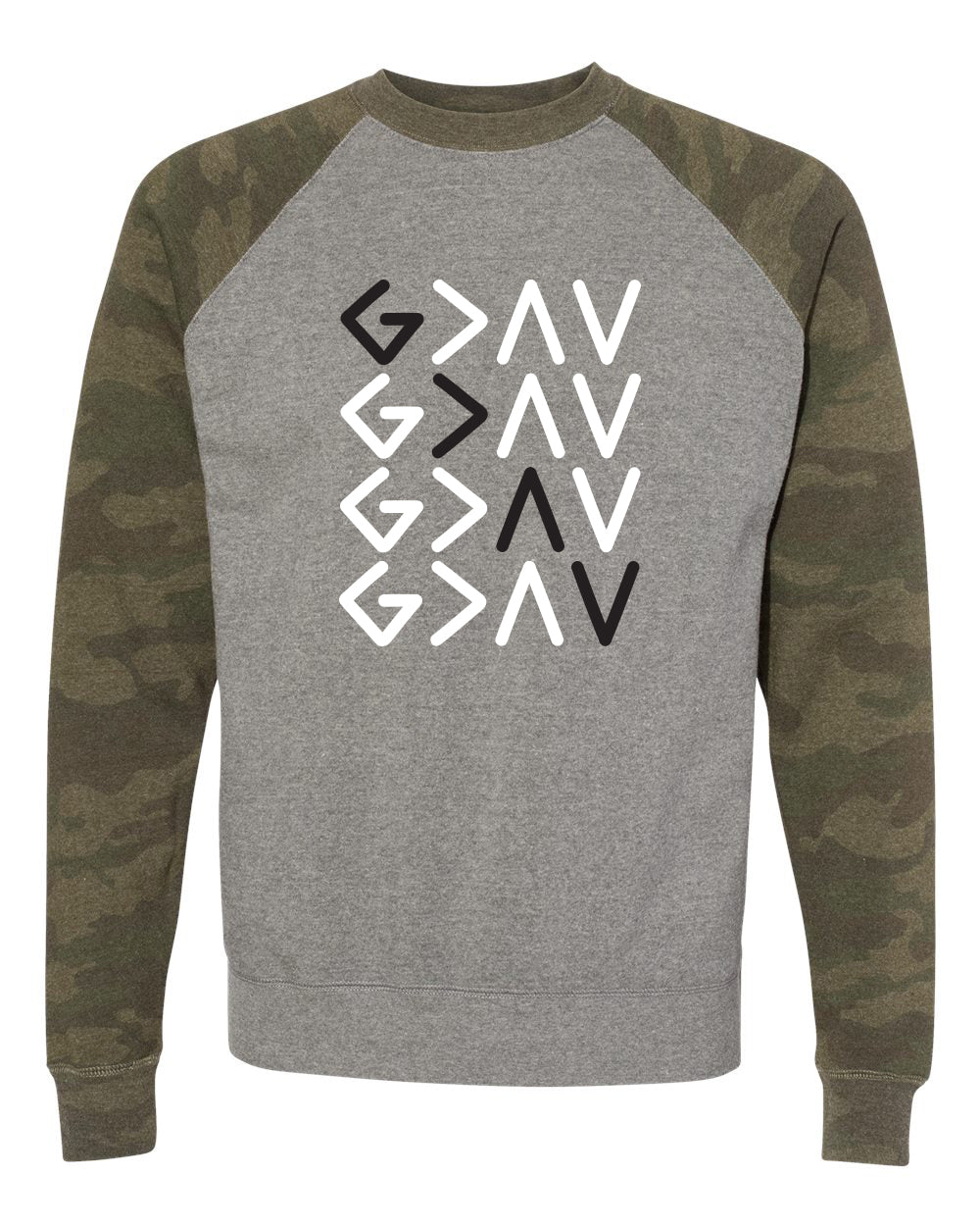 God is Greater than the Highs & Lows - Camo Crewneck