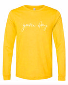 Game Day Long Sleeve Tee - Gold