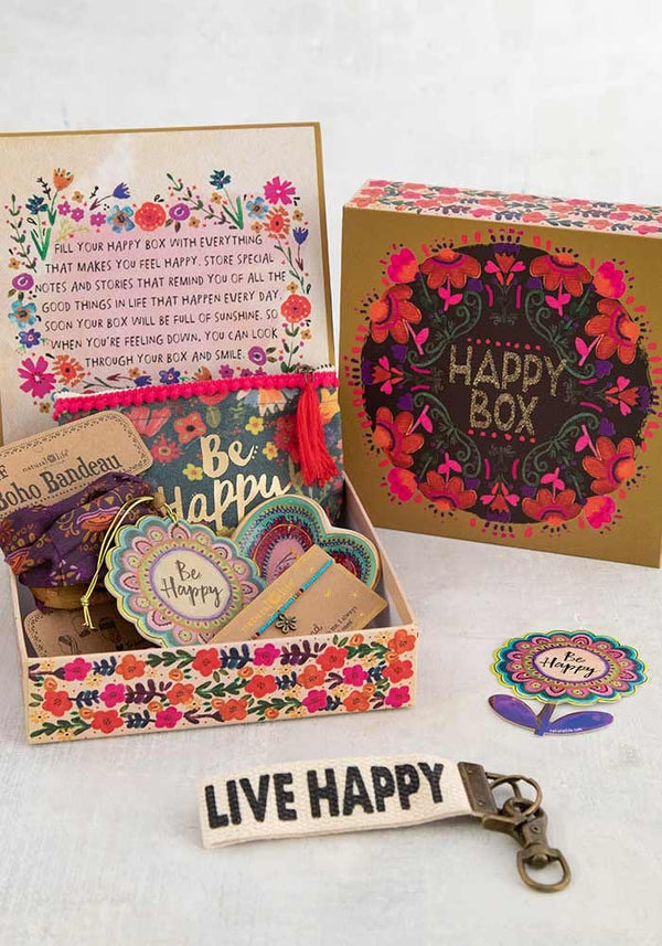 Happy box-Mustard floral
