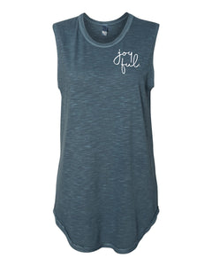 Joyful. Sleeveless Slub