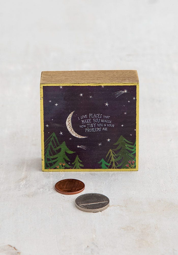 I love places-Tiny wood keepsake