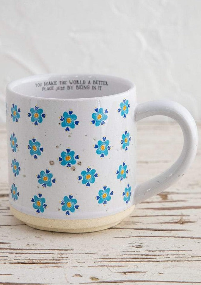 Blue Flower Bungalow Mug