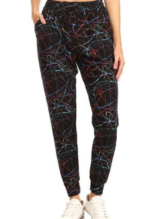 Butter Soft Joggers - Scribble Print