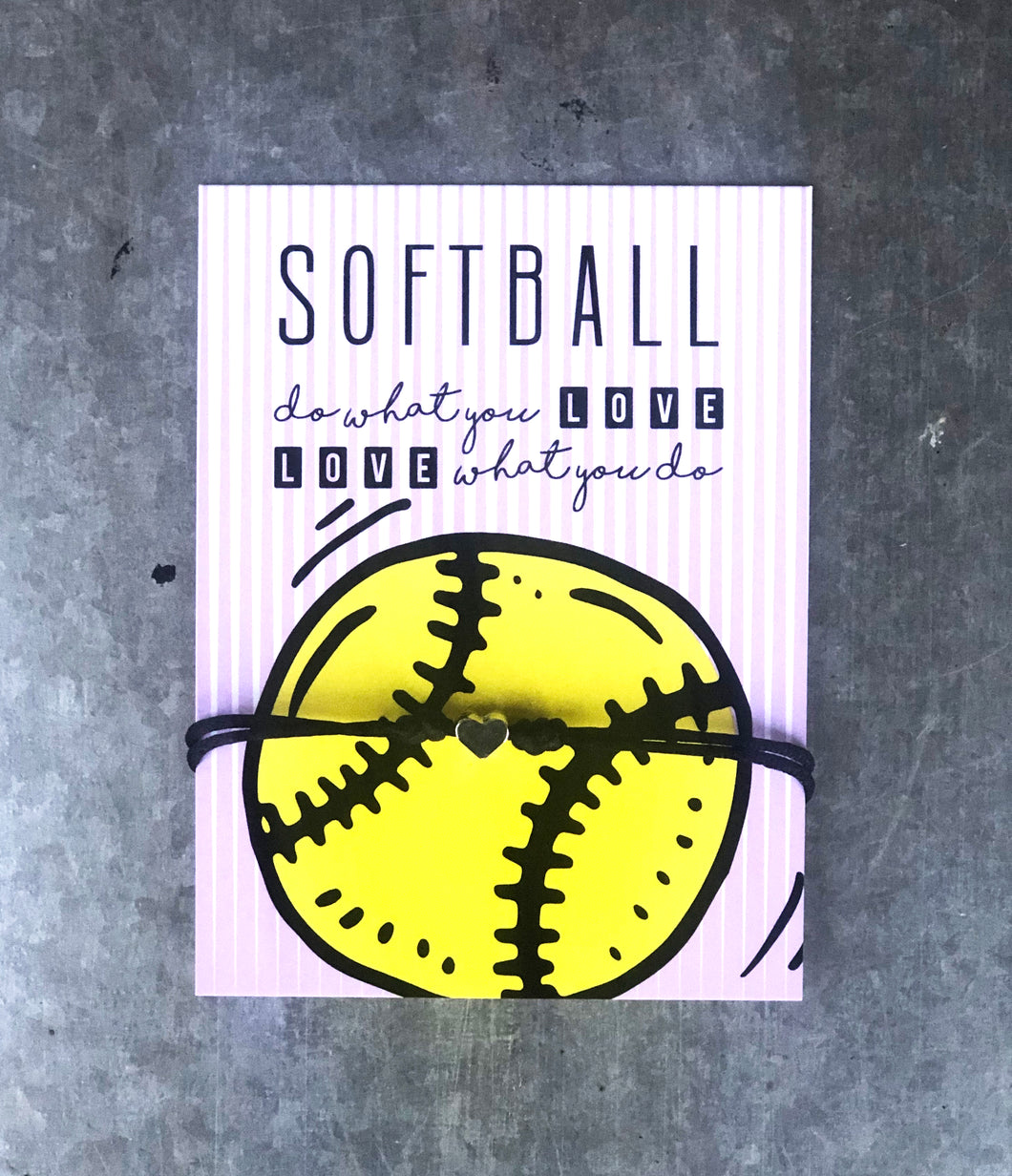 Heart Bracelet - Softball