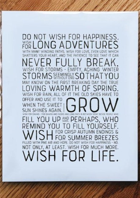 Wish For Life-Print