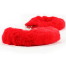 FETISH PLEASURE FLUFFY HANDCUFFS RED