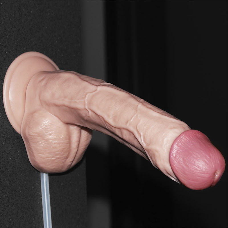 "10"" SQUIRT EXTREME DILDO FLESH"