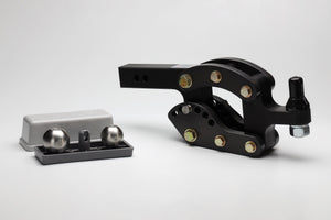 "2"" Hard Black Anodized Finish Rhino Hitch with 7"" Drop 10K"