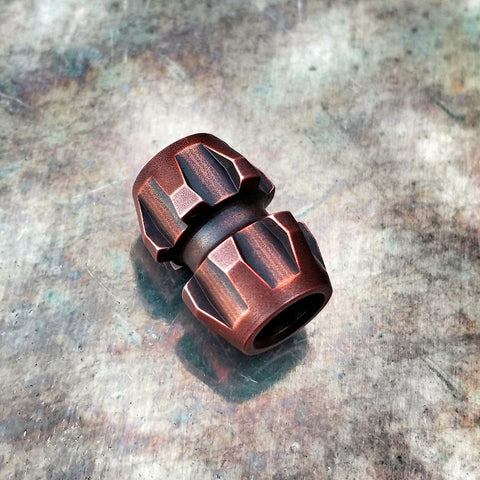 Rogue Lanyard Bead -- Copper (Acid Washed)