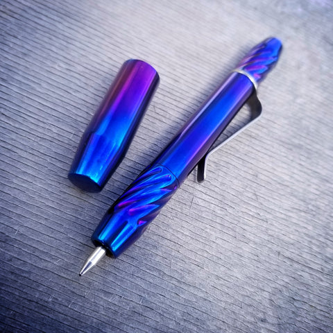 TechLiner Twist Super Shorty (SS) -- Wensil Edition Titanium (Polished/Heat Anodized)