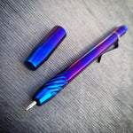 Techliner Twist Shorty -- Wensil Edition Titanium (Polished/Heat Anodized)