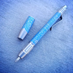 TechLiner Fluted Shorty -- Blue Hawaiian Etch Titanium (Burnished)