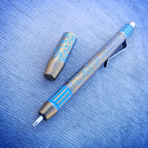 Techliner Fluted Shorty -- DigiCam Etch Titanium (Blue/Bronze)