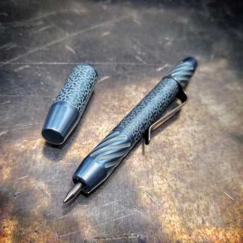TechLiner Twist Super Shorty (SS)  -- Damask Etch Titanium (Arctic/Gunmetal)