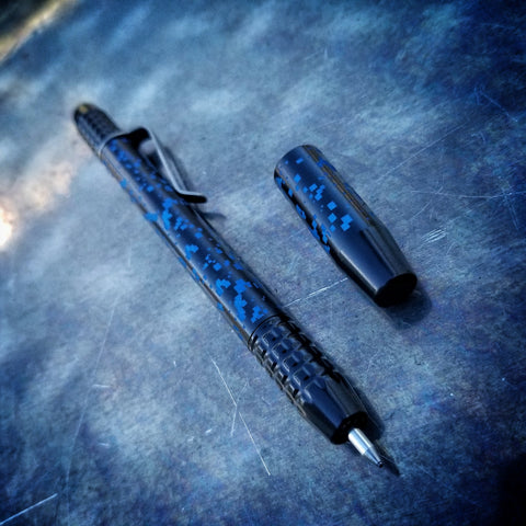 TechLiner Grid Shorty -- DigiCam Laser Marked Black Cerakote Titanium (Blue Ano)