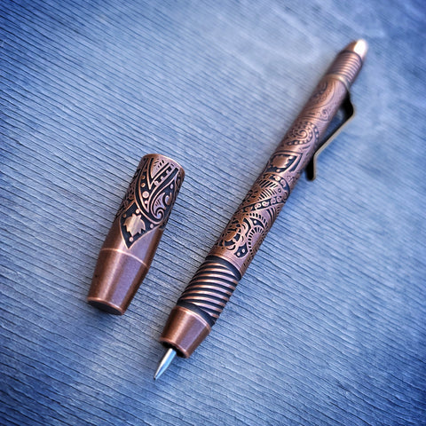 TechLiner Helix Shorty -- Paisley Etch Copper (Tumbled)