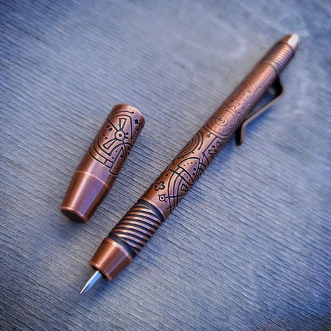 TechLiner Helix Shorty -- Lazar Etch Copper (Tumbled)