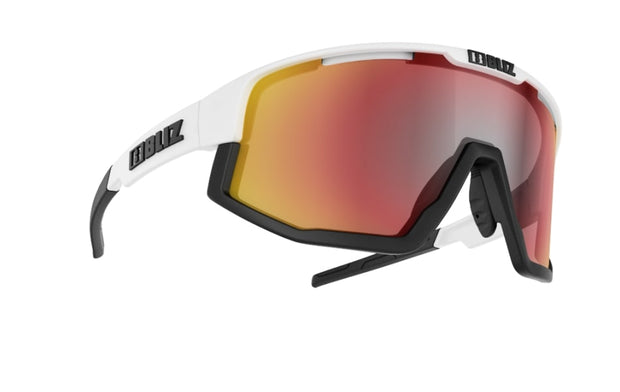 Bliz Fusion Matte White Frame // Smoke With Red Multi Lens 52905-04