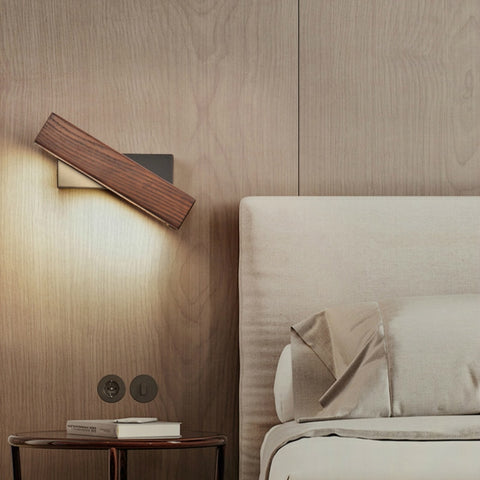 wooden led wall lights