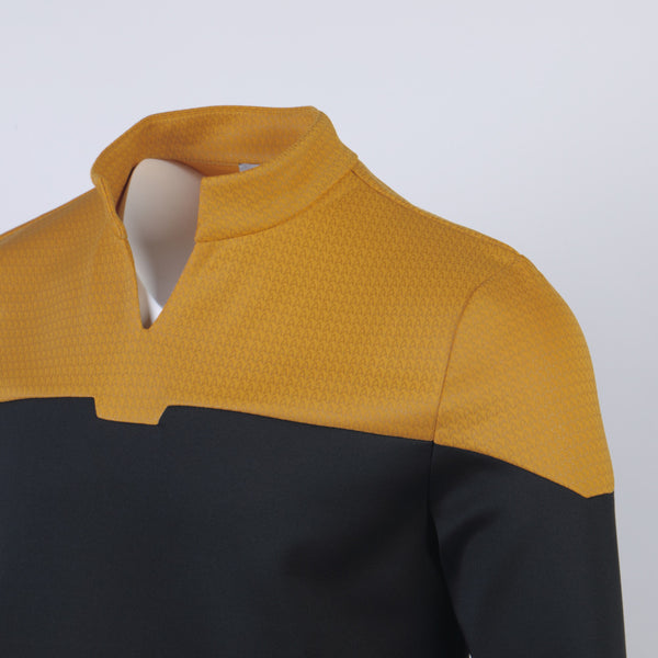 Star Trek Admiral JL Picard Red Uniform Startfleet Blue Gold Top Shirts cosplay costume