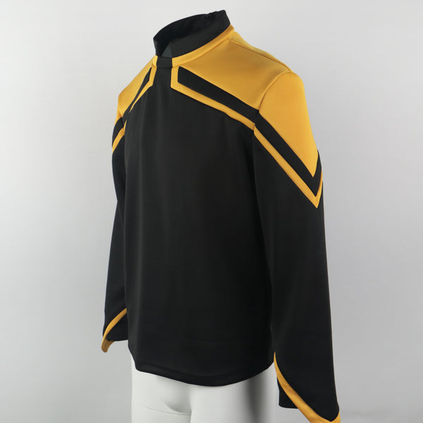 [US Warehouse] Star Trek Admiral Jean-Luc Picard Uniform Male Yellow Top Shirt Cosplay Costume