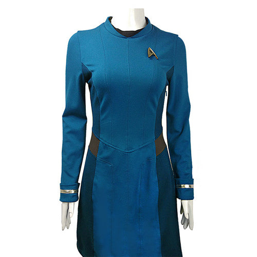 Star Trek Beyond Cosplay Blue Uniform Adult Women Halloween Costume Badge