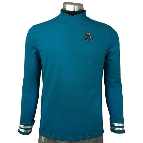 Star Trek Beyond Sulu Cospaly Blue Uniform Halloween Costume Badge