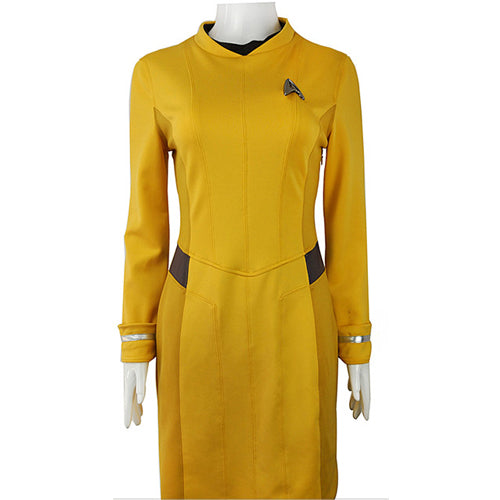 Star Trek Beyond Cosplay Yellow Uniform Adult Women Halloween Costume Badge