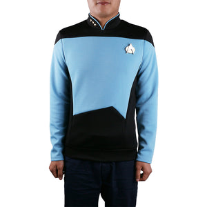 Star Trek TNG The Next Generation Blue Shirt Uniform Cosplay Costume