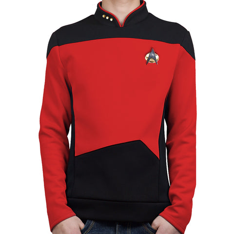 [US Warehouse] Star Trek TNG The Next Generation Red Shirt Uniform Cosplay Costume