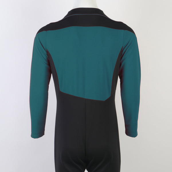 Star Trek The Next Generation Jean-Luc Picard Flying Suit  Blue Jumpsuit Cosplay Costume
