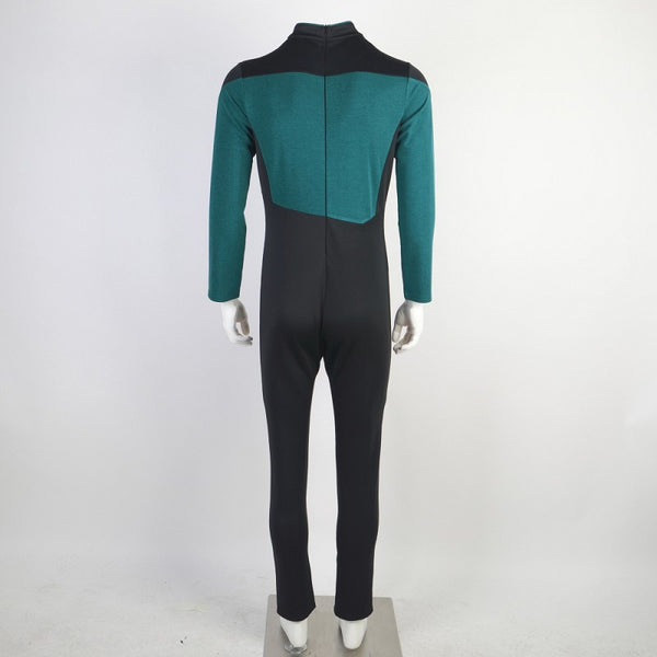 Star Trek The Next Generation Picard Blue Jumpsuit Cosplay Costume