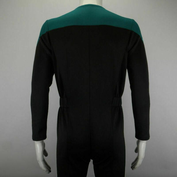 Star Trek Deep Space Nine Blue Uniform Jumpsuit Cosplay Adult Male Costumes New - BFJ Cosmart