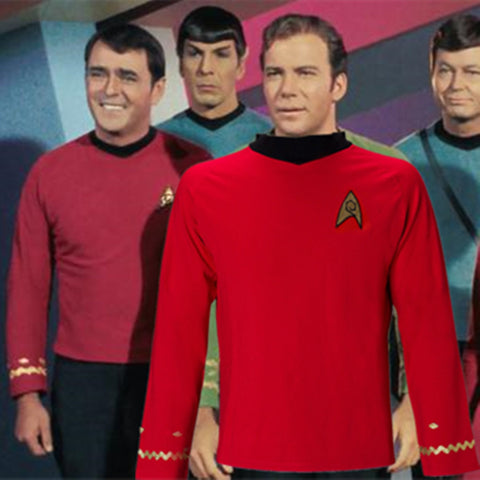 Cosplay Star Trek TOS The Original Series Kirk Shirt Uniform Costume Halloween Red Costume - BFJ Cosmart
