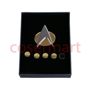 [US Warehouse] Star Trek Badge Souvenir The Next Generation Metal Badge 6pcs Set