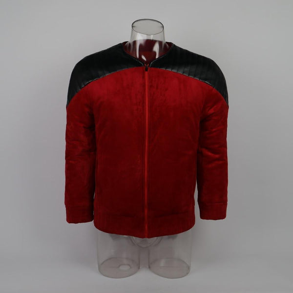Star Trek The Next Generation Captain Picard Duty Uniform Jacket TNG Red Cosplay Costume Man Winter Coat Warm - BFJ Cosmart